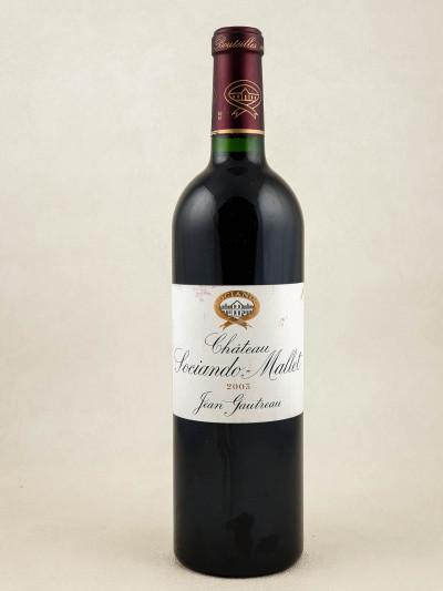 Sociando Mallet - Haut Médoc 2003