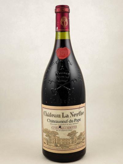 """La Nerthe - Châteauneuf Du Pape """"Cuvée des Cadettes"""" 1989 MAGNUM"""