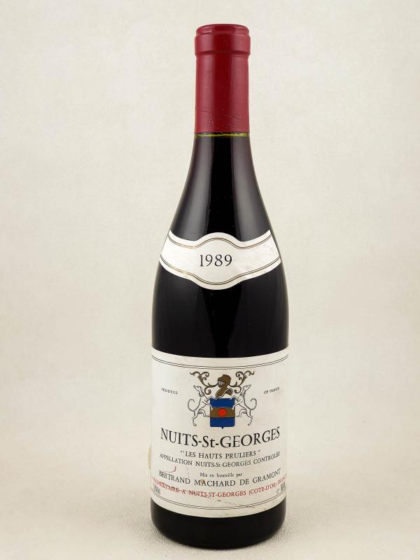 """Machard de Gramont - Nuits Saint Georges """"Les Hauts Pruliers"""" 1988"""