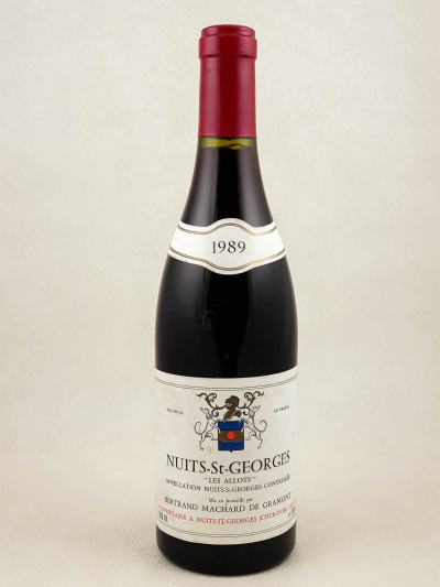 "Machard de Gramont - Nuits Saint Georges ""Les Allots"" 1989"