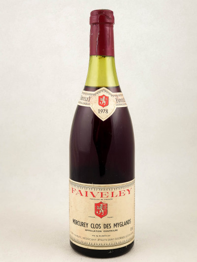 "Faiveley - Mercurey ""Clos des Myglands"" 1978"