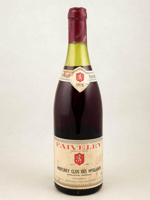 """Faiveley - Mercurey """"Clos des Myglands"""" 1978"""