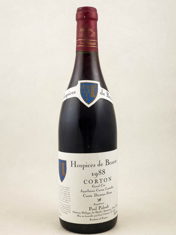 Paul Pidault Hospices de Beaune - Corton Docteur Peste 1988