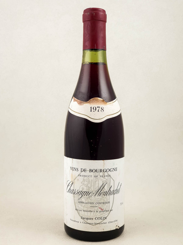 Jacques Colin - Chassagne Montrachet 1978