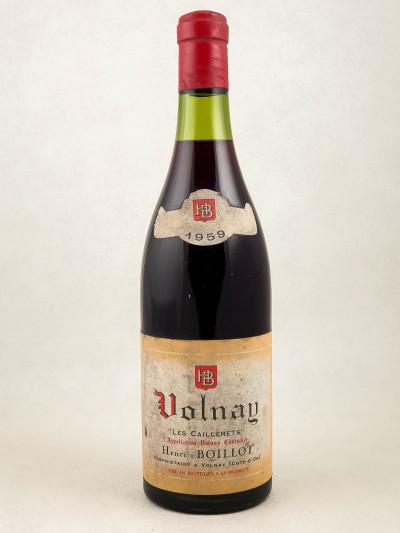 "Henri Boillot - Volnay ""Les Caillerets"" 1959"