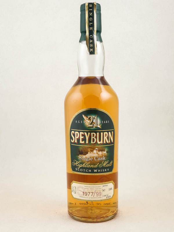 Speyburn - Whisky Single Cask 21 years 1977