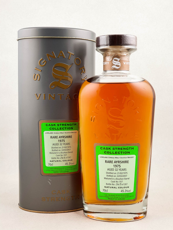 Signatory Vintage Rare Ayrshire - Whisky Cask Strength Collection 32 years 1975