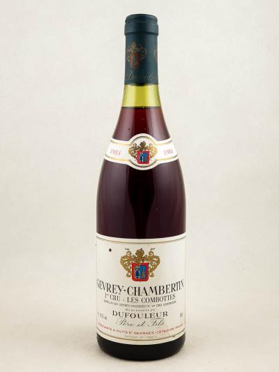 "Dufouleur Père & Fils - Gevrey Chambertin 1er cru ""Combottes"" 1984"
