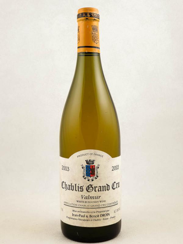 """Droin - Chablis grand cru """"Valmur"""" 2003"""