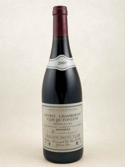 "Bruno Clair - Gevrey Chambertin 1er cru ""Clos du Fonteny"" 2007"