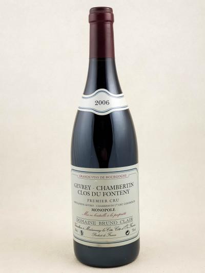 "Bruno Clair - Gevrey Chambertin 1er cru ""Clos du Fonteny"" 2006"