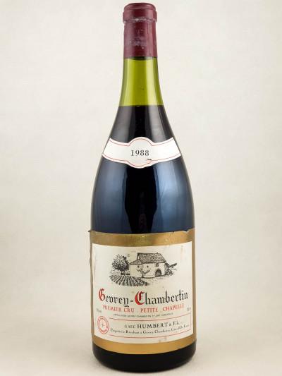 "Humbert - Gevrey Chambertin 1er cru ""Petite Chapelle"" 1988 MAGNUM"