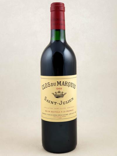Clos du Marquis - Saint Julien 1989