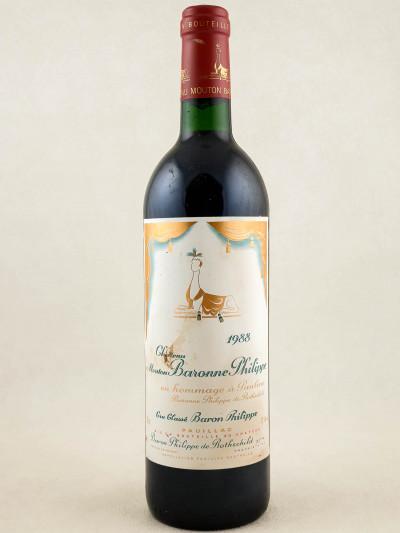 Mouton Baronne Philippe ( d'Armailhac ) - Pauillac 1988
