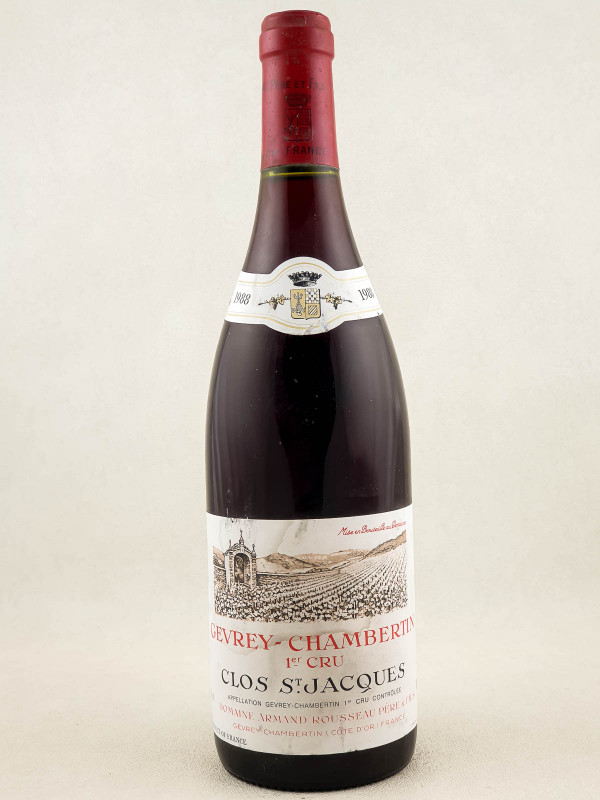 "Armand Rousseau - Gevrey Chambertin 1er cru ""Clos Saint Jacques"" 1988"
