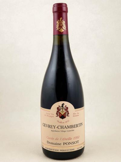 """Ponsot - Gevrey Chambertin """"Cuvée de l'Abeille"""" 1992"""