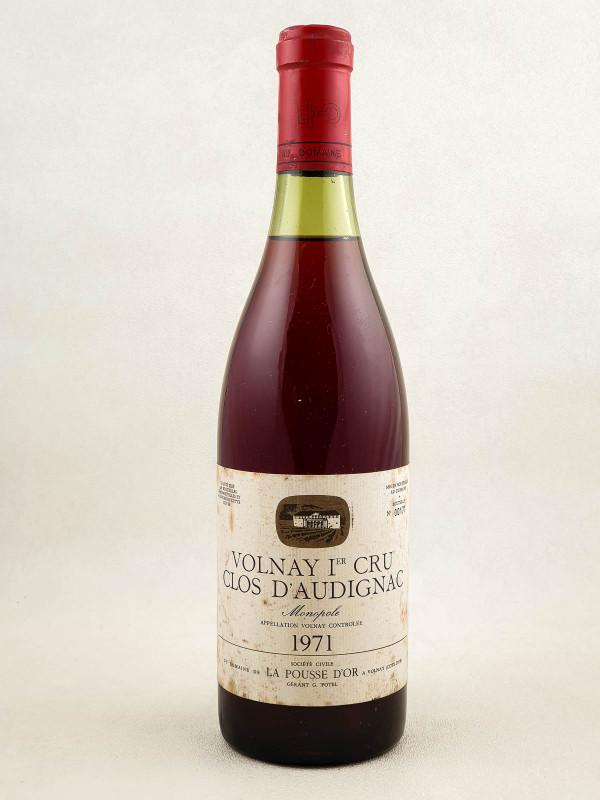"""La Pousse d'Or - Volnay 1er cru """"Clos d'Audignac"""" 1971"""