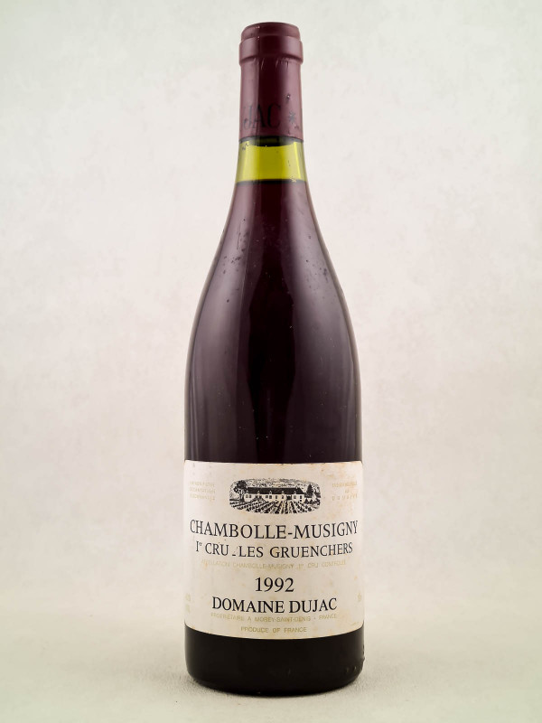 """Dujac - Chambolle Musigny 1er cru """"Les Gruenchers"""" 1992"""