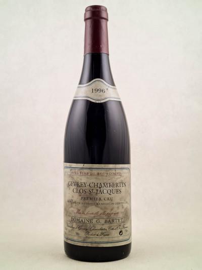 """G.Bartet - Gevrey Chambertin 1er cru """"Clos Saint Jacques"""" 1996"""