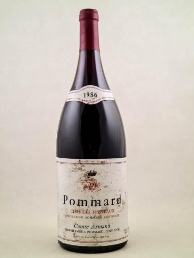"""Comte Armand - Pommard 1er cru """"Clos des Epeneaux"""" 1986 MAGNUM"""