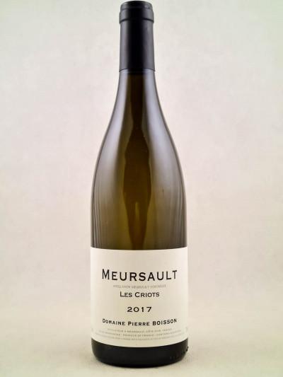 """Pierre Boisson - Meursault """"Criots"""" 2017"""