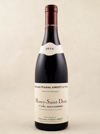 """Pierre Amiot - Morey Saint Denis 1er cru """"Aux Charmes"""" 2016"""