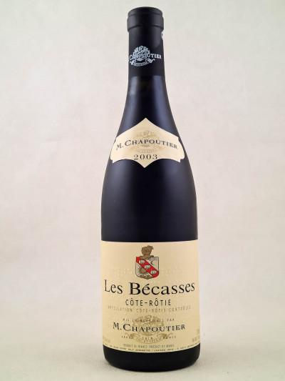 """Chapoutier - Côte Rôtie """"Les Bécasses"""" 2003"""