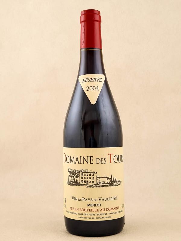 Domaine des Tours - Vin de Pays du Vaucluse Merlot 2004
