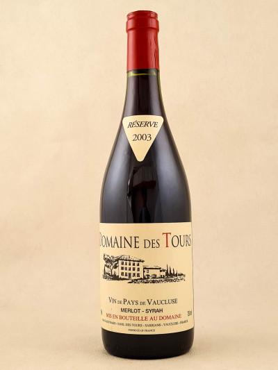 Domaine des Tours - Vin de Pays du Vaucluse Merlot Syrah 2003
