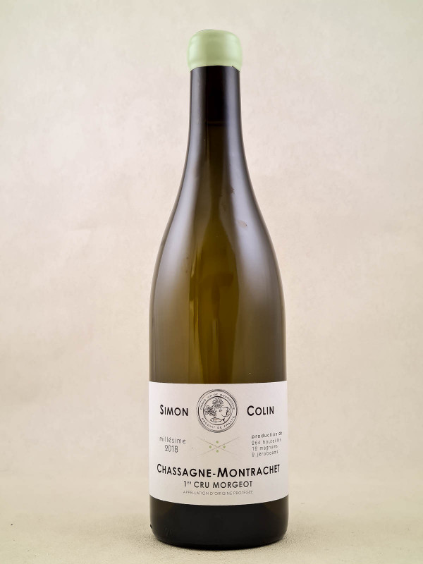 "Simon Colin - Chassagne Montrachet 1er cru ""Morgeot"" 2018"