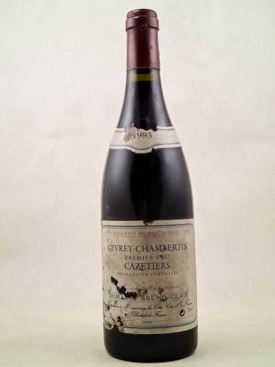 "Bruno Clair - Gevrey Chambertin 1er cru ""Cazetiers"" 1993"