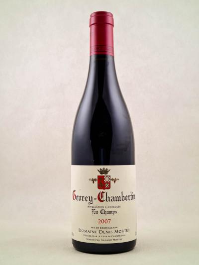 """Denis Mortet - Gevrey Chambertin """"En Champs"""" 2007"""