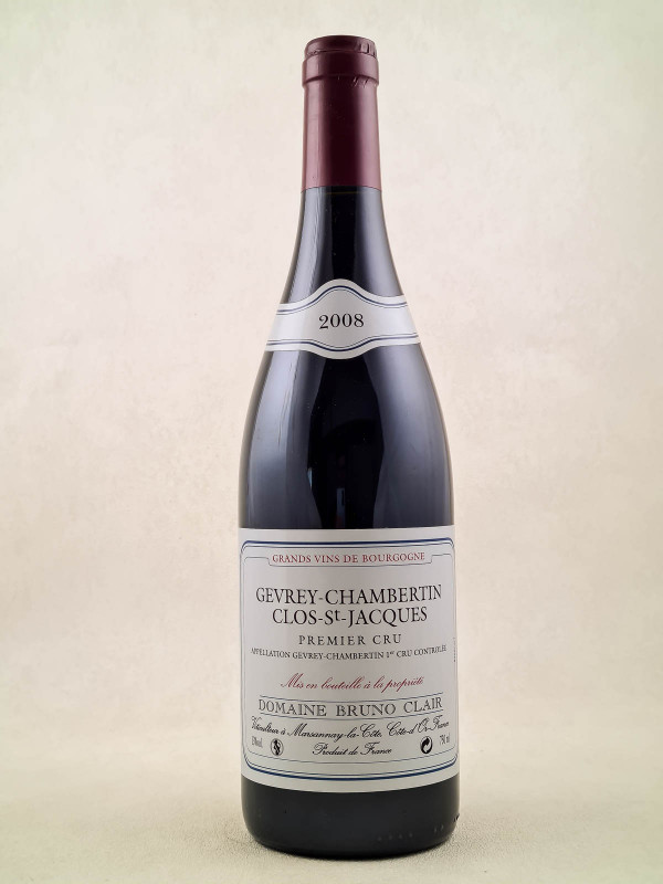 "Bruno Clair - Gevrey Chambertin 1er cru ""Clos Saint Jacques"" 2008"