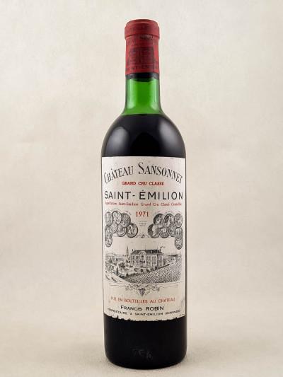 Sansonnet - Saint Emilion 1971