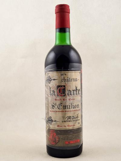 La Carte - Saint Emilion 1974