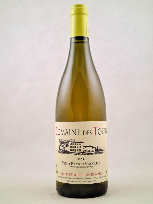 Domaine des Tours blanc - Vin de Pays du Vaucluse 2014