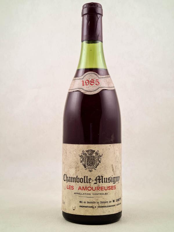 """Zibetti - Chambolle Musigny 1er cru """"Amoureuses"""" 1985"""