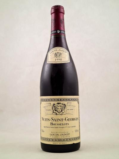 """Louis Jadot - Nuits St Georges 1er cru """"Les Bousselots"""" 1998"""
