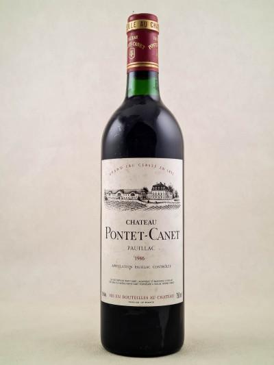 Pontet Canet - Pauillac 1986