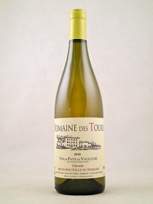 Domaine des Tours blanc Clairette - Vin de Pays du Vaucluse 2016