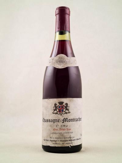 """Paul Pillot - Chassagne Montrachet 1er cru """"Clos St Jean"""" rouge 1980"""