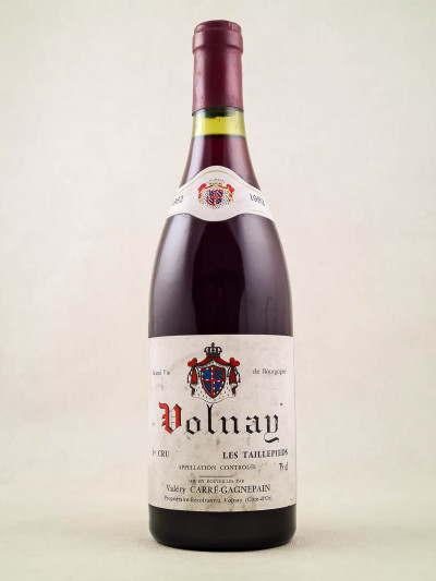 "Carré Gagnepain - Volnay 1er cru ""Taillepieds"" 1982"