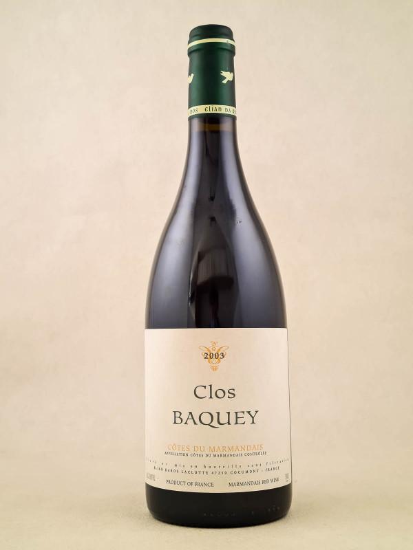 "Elian Da ros - Côtes-du-Marmandais ""Clos Baquey"" 2003"
