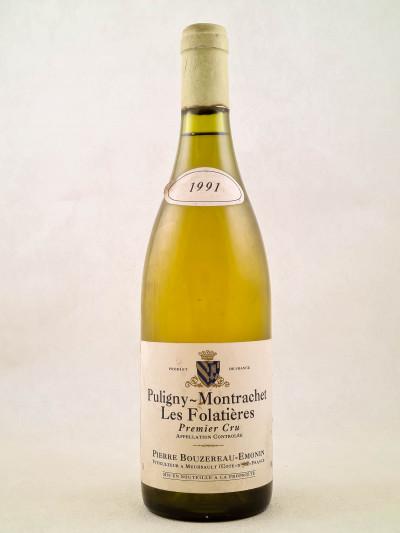 """Pierre Bouzereau-Emonin - Puligny Montrachet """"Les Folatières"""" 1991"""