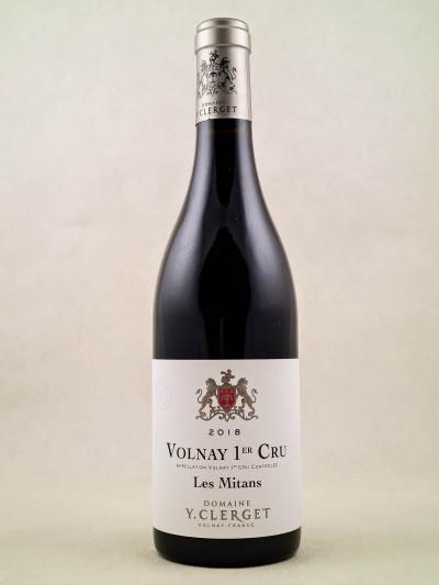 """Yvon Clerget - Volnay 1er Cru """"Les Mitans"""" 2018"""