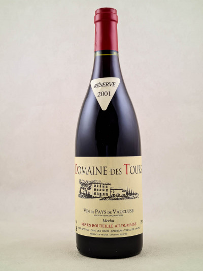 Domaine des Tours - Vin de Pays du Vaucluse Merlot 2001