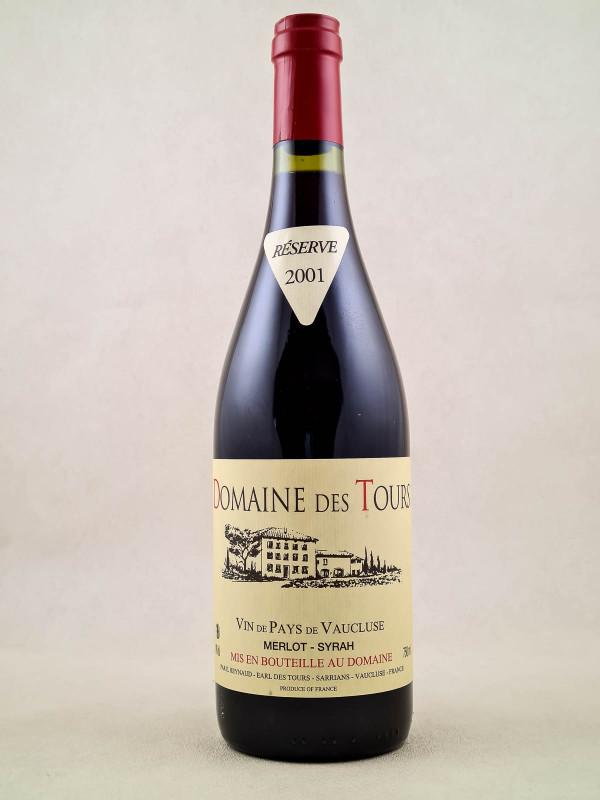 Domaine des Tours - Vin de Pays du Vaucluse Merlot Syrah 2001