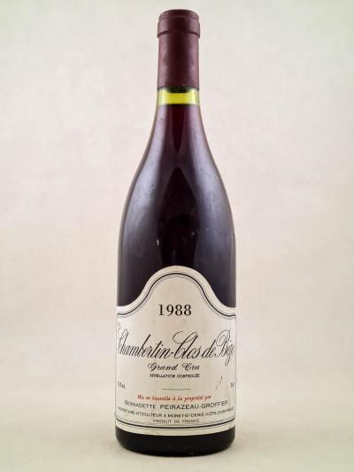 Peirazeau Groffier - Chambertin Clos de Bèze 1988