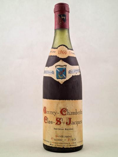 """Clair Daü - Gevrey Chambertin 1er cru """"Clos Saint Jacques"""" 1966"""
