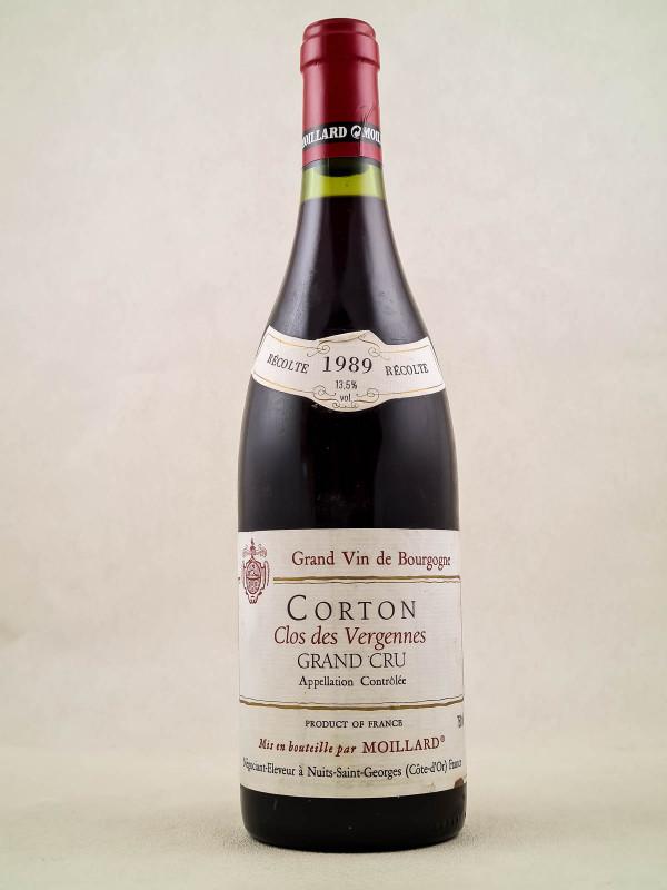 """Moillard - Corton """"Clos des Vergennes"""" 1989"""